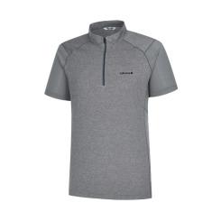 [라푸마][19SS] 그레이 메쉬배색 반팔 집업 티셔츠 LMTS9B305G2