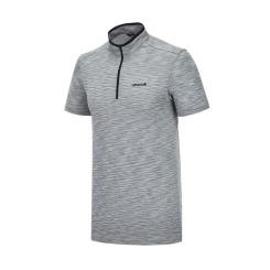 [라푸마][19SS] 그레이 심리스 반팔 집업 티셔츠 LMTS9B303G1