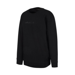 [LAFUMA] 라푸마 칼레(Callais) 블랙 기모 로고 맨투맨 LFTS8D321BK