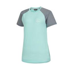 [라푸마][19SS] 라임 라그란 멜란지 블록 라운드 티셔츠 LFTS9B318L1