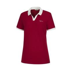 [라푸마][19SS] 레드 멜란지 린넨 MIX 카라 티셔츠 LFTS9B335R2