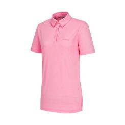 [라푸마][19SS] 핑크 반팔 카라 티셔츠 LFTS9B503P1