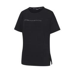 [라푸마][19SS] 블랙 여성 루즈핏 라운드 티셔츠 LFTS9B317BK