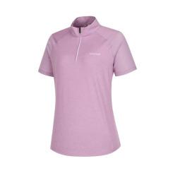[라푸마][19SS] 퍼플 메쉬배색 반팔 집업 티셔츠 LFTS9B305U1