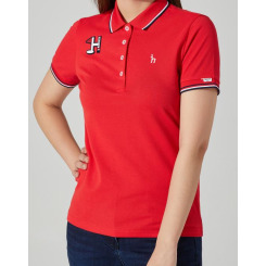 [헤지스골프][20SS] 레드 H시즌와펜 면혼방 피케 티셔츠 HWTS0B901R2