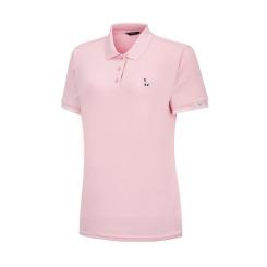 [헤지스골프][20SS] 핑크 퍼피자수 반팔카라티셔츠 HWTS0B311P1