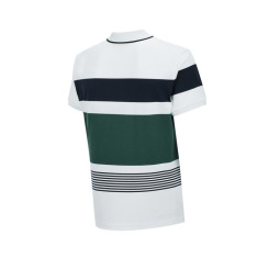 [헤지스골프] [Online Limited] 화이트 컬러블럭 면혼방 반팔폴로티셔츠 HUTS0B905WT