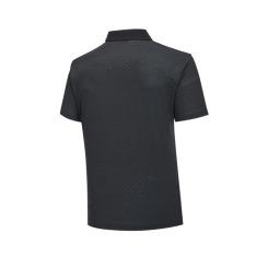 [헤지스골프] [19SS] 블랙 패턴 반팔카라티셔츠 WPTS9B913BK
