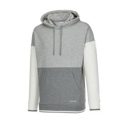[JILLSTUART NEWYORK SPORT] 질스튜어트뉴욕스포츠 [High Line Hoodie] 그레이 남녀공용 세미오버핏 컬러배색 세트 후드티 JMTS9A155G1