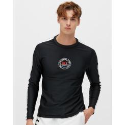 [질스튜어트뉴욕스포츠][19SS] 블랙 남성 라운드넥 루즈핏 긴팔 래쉬가드 JMSR9B415BK