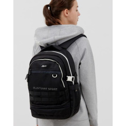 [JILLSTUART NEWYORK SPORT] 질스튜어트뉴욕스포츠 [Utica+ Backpack] 블랙 남녀공용 코듀라 신학기 라운드 백팩(신발 주머니 내장) JEBA9E155BK