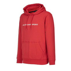 [JILLSTUART NEWYORK SPORT] 질스튜어트뉴욕스포츠 [Basic Logo Hoodie] 레드 로고 면폴리 스판쭈리 남녀공용 후드티셔츠 JMTS8D752R2