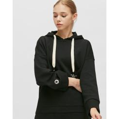 [JILLSTUART NEWYORK SPORT] 질스튜어트뉴욕스포츠 [Starry Hoodie] 블랙 로고프린트 면혼방 여성 후드티셔츠 JFTS9D751BK