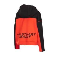 [JILLSTUART NEWYORK SPORT] 질스튜어트뉴욕스포츠 [NYC Fire Woman Hoodie] 파이어맨 컬러블럭 기능성 후드 티셔츠 JFTS9D801BK