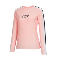 [질스튜어트뉴욕스포츠] [Line Solid Rashguard] 핑크 여성 소매 라인포인트 래쉬가드 JFSR9B413P4