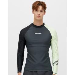 [질스튜어트뉴욕스포츠][19SS] [Lido Beach Rashguard M]차콜그레이 남성 패턴물 배색 래쉬가드 JMSR9B412CG