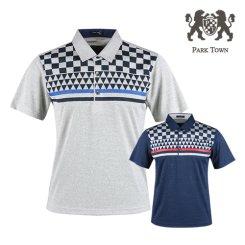 파크타운 카치온 패턴 배색 반팔 카라셔츠 RM20M426