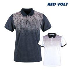 레드볼트 배색 패턴 그라데이션 카라셔츠 RM20M429