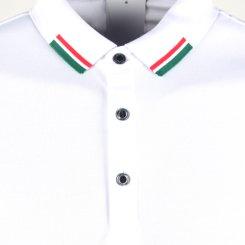 레드볼트 배색 시보리 솔리드 카라셔츠 RM20M430