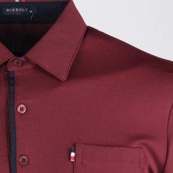맥켄리 배색 카라 긴팔 골프셔츠 RM20A451