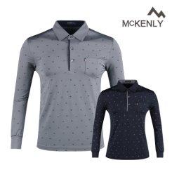 맥켄리 멀티 아이콘 카라 긴팔 골프셔츠 RM20A452