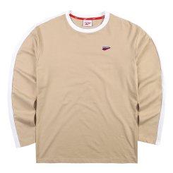 가을 기본 배색 라운드 티셔츠(W)MT-X121